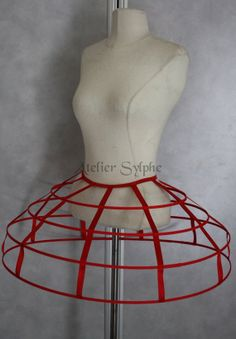 Maia this is what i want for my skirt ! Red color Crinoline hoop skirt panier 4 by AtelierSylphecorsets, $57.32