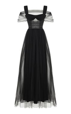 e1f78fdf4bb Click Product to Zoom Rasario Tulle Gown ColorBlack  2