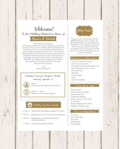 ideas for brunch wedding activities Destination Wedding Itinerary, Wedding Weekend Itinerary, Brunch Wedding, Hotel Wedding, Wedding Ceremony, Beer Wedding, Wedding Koozies, Wedding Programs, Party Wedding