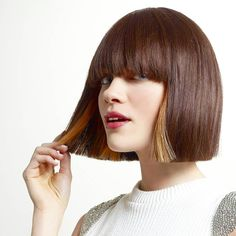 Noting like a bob with some extras, love the peekaboo's and the short fringe. #1000orbust #sexybob #greatstylist #greathaircut #beauty #sexyhair #fallhairstyles #fallhaircolor #classicbob #bobbedhair #bobcut #ilovebobs #ilovehair #peekaboos #peekaboohighlight #fringe #bumperbangs #shortfringe #nolayersneeded