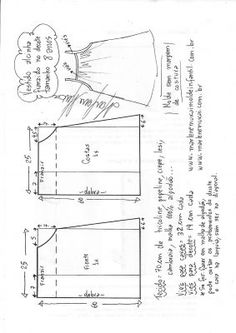 Best 12 Prodigious Sewing Make Your Own Clothes Ideas – SkillOfKing. Baby Dress Patterns, Kids Patterns, Sewing Patterns Free, Sewing Tutorials, Clothing Patterns, Sewing Pants, Sewing Clothes, Diy Clothes, Sewing For Kids