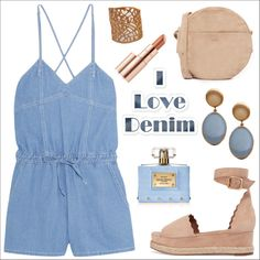 A fashion look from May 2017 featuring Steve J & Yoni P rompers, Chloé sandals and BAGGU shoulder bags. Browse and shop related looks.