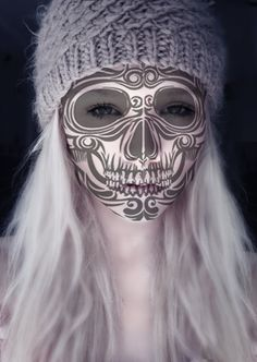 "Sugar Skull . Day of the Dead.  ""this might be the prettiest one I've seen in a long time.""--Elo"