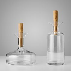 Norwegian designers StokkeAustad  and Frost Produkt have collaborated to design a range of kitchen utensils, glass water carafe, wine decanter and glasses.