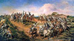 Independência ou Morte!, também conhecido como O Grito do Ipiranga, 4,15×7,6m, 1888, Museu Paulista-Pedro Américo