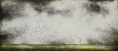 """Création d'avril: """"Le dernier perchoir"""" 70 x 30 cm"""