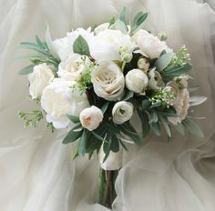 Silk Wedding Bouquet Boho Bouquet Bridal Bouquet Silk