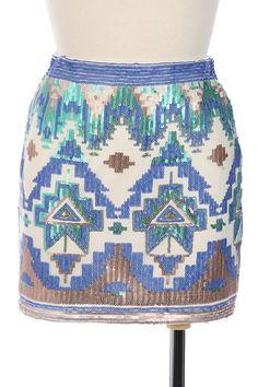 Beautiful Embellished Tribal Skirt