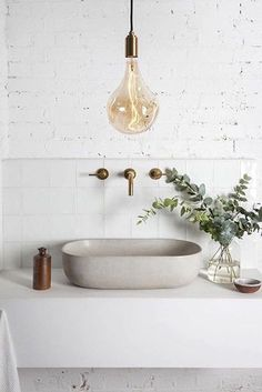 How it will look like Modern Decoration modern country decor Bathroom Taps, Sink Faucets, Small Bathroom, Bathroom Lighting, Bathroom Modern, Remodel Bathroom, Minimalist Bathroom, Bathroom Ideas, Bling Bathroom