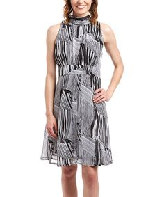 $19.99 Another great find on #zulily! Black & White Abstract Shift Dress #zulilyfinds