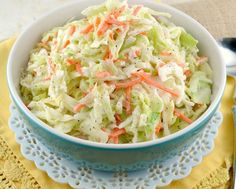KFC-Coleslaw-Recipe -made this for dinner tonight. It was better than KFC perhaps because it was fresher and a smaller batch ( for Ww Recipes, Copycat Recipes, Salad Recipes, Cooking Recipes, Healthy Recipes, Cooking Ideas, Delicious Recipes, Simply Recipes, Skinny Recipes