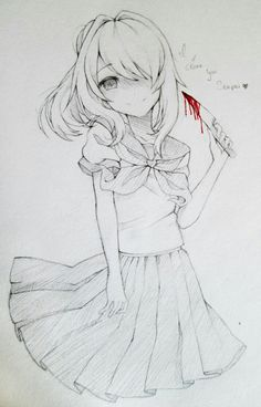 """"""" go yandere me and my friend made it for you! Hope you like it"""" Animes Yandere, Yandere Manga, Yandere Girl, Tsundere, Manga Anime, Anime Art, Sword Art Online, Ayano X Budo, Yandere Simulator Characters"""