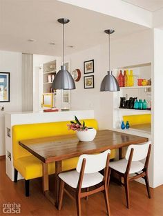 37 Comedores con sillas de diferentes estilos http://cursodeorganizaciondelhogar.com/37-comedores-con-sillas-de-diferentes-estilos/ 37 Dining rooms with chairs of different styles #37Comedoresconsillasdediferentesestilos #comedores #Decoracion #Decoraciondeinteriores #ideasparacomedores