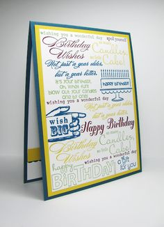 Stampin' Up!  Birthday Card by people STAMP!: Stamped Subway Art