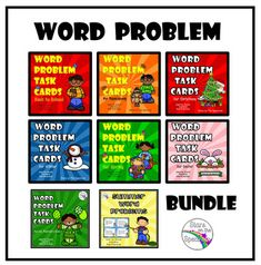Word Problem Task Card Bundle - Real Time - Diet, Exercise, Fitness, Finance You for Healthy articles ideas Second Grade Teacher, 1st Grade Math, Kindergarten Math, Grade 2, Teaching Tools, Teaching Math, Teaching Ideas, Teaching Materials, Elementary Teacher