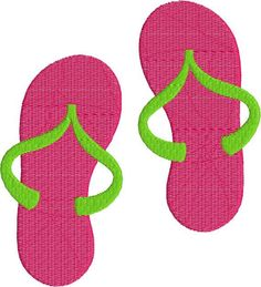 042fb2673aa Flip Flops Sandals with fill Machine Embroidery Design 4x4 and 5x7 Instant  Download