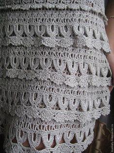 Платья ручной работы. Платье Thread Crochet, Crochet Trim, Crochet Motif, Crochet Shawl, Crochet Designs, Crochet Yarn, Crochet Stitches, Crochet Patterns, Vanessa Montoro