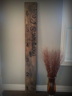 Custom Growth Ruler Growth Chart Vintage Rustic Antique Home Decor Kids