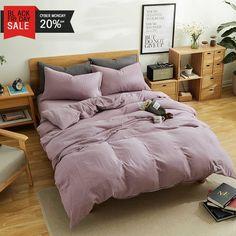 d5490d139b Purple Bedding Ideas - MKXI Simple Bedroom Collection 3 Pieces Purple Queen  Size Duvet Cover Set