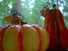 Ceramic pumpkin and gourd