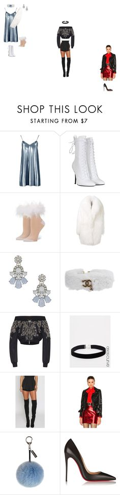 """Jingle Ball '16"" by queenet ❤ liked on Polyvore featuring Boohoo, Balmain, Stance, Alaïa, Dorothy Perkins, Chanel, Zuhair Murad, ASOS Curve, Yves Saint Laurent and Helen Moore"
