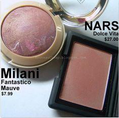 Milani Fantastico Mauve blush - dupe for Nars Dolce Vita!