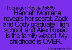 Hannah Montana reveals her secret, Zack and Cody graduate High school, and Alex Russo is the family wizard. My childhood is OVER.<<<<<<<<<All of these were pretty emotional as a kid Right In The Childhood, Childhood Memories, Childhood Ruined Disney, Teen Posts, Teenager Posts, Old Disney Shows, Zack Y Cody, Old Disney Channel, Funny Quotes