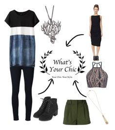"""What's Your Chic!"" by canadiangirll ❤ liked on Polyvore featuring Frame Denim, Topshop, Agrigento Designs, Versace, Triya and Miriam Haskell"