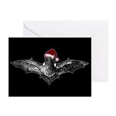 Bat In A Santa Hat Greeting Card