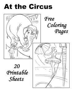 Circus coloring pages! -Repinned by Totetude.com