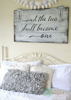 """And the two shall become one"" Wood Sign {customizable} – Aimee Weaver Designs, LLC"