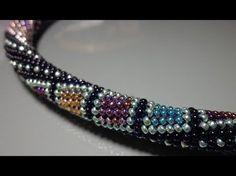 Video Tutorial: Crocheting harness beaded crochet http:& Russian version: https:& Music: Dmitry Titaev - Immortals shad. Bead Crochet Patterns, Bead Crochet Rope, Beaded Crochet, Spiral Crochet, Seed Bead Tutorials, Beading Tutorials, Crochet Beaded Bracelets, Beaded Jewelry, Jewelry Patterns