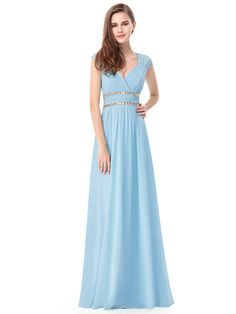 Ever-Pretty Women s Elegant Long V-neck Wedding Guest Dresses for Women  08697 ( 577f4b6047f0