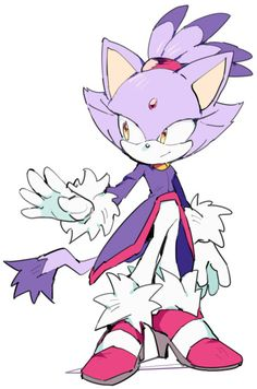 (Sonic): Blaze the cat Sonic The Hedgehog, Silver The Hedgehog, Shadow The Hedgehog, Blaze The Cat, Sonic Franchise, Sonic And Amy, Sonic Fan Characters, Sonic And Shadow, Sonic Fan Art
