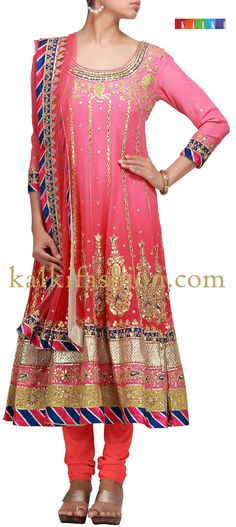 http://www.barcode91.com/anarkali-dress-in-pink-with-gotta-patch-work-embroidery-by-b91-exclusive-6957.html Anarkali dress in pink with gotta patch work embroidery by B91 Exclusive
