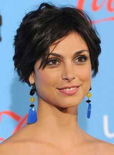 Morena Baccarin Layered Short Black Crop Cut | Hairstyles Weekly