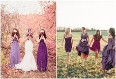 Purple is a romantic and mysterious color for wedding themes.