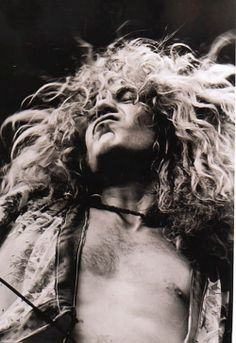 Ramble on ...great black and white pic of Robert Plant.