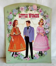 Little Women paper doll book, 1963. Includes 5 punch-out paper dolls and six pages of cut-out clothes and accessories. Book is completely intact, no missing parts. Shows a reasonable amount of aging and staples have rusting. For more pictures please visit https://lapequenatienda.wordpress.com/in-the-shop. Saafield  Measurements 14 X 11  Thank you for stopping by! Please message me should you have any questions. Blog: lapequenatienda.wordpress.com Pinterest: La Pequeña Tienda