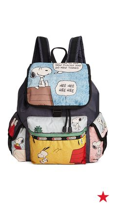 Treat you kid to some cartoon couture with this cute LeSportsac Peanuts backpack.