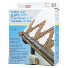 ice melter cable - meant for roofs but I'd use for driveway melt to drain