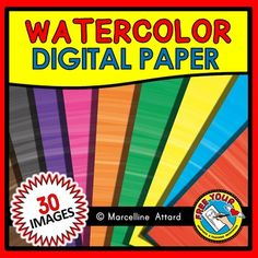 #WATERCOLOR #STROKES #DIGITAL #PAPER #CLIPART #PACK