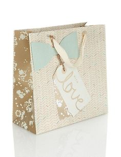 Large Bow Gift Bag Home