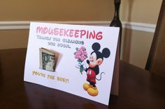 Mousekeeping Tip Holder | Free Printable. Print, fold in half, cut along black line. Works best printed on card stock.