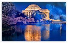 Thomas Jefferson Memorial Cherry Blossom HD desktop wallpaper : Widescreen : High Definition : Fullscreen : Mobile : Dual Monitor