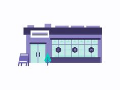 Shop A segment from a new set of illustrations I am working on for a new client.  Keeping it clean and colorful. Designed at STUDIOJQ©