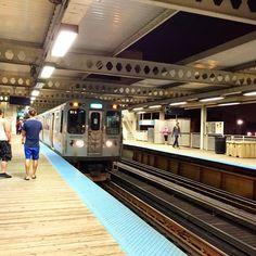 I love #Chicago ... #CTA #BlueLine #logansquare