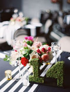 Grass numbers are such a cute way to number your tables! Captured by Charla Storey Photography #bridesofnorthtx #wedding
