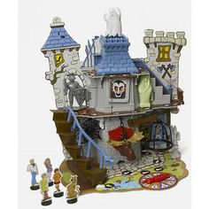 """MISB! 2007 SCOOBY-DOO & The Gang """" Haunted House 3D Board Game """" 7 Spooky Traps!"""