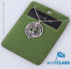 Pewter Pendant with MacKay Clan crest - from ScotClans